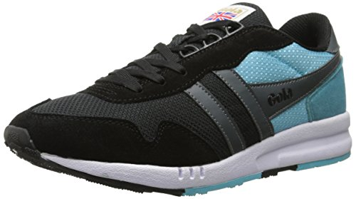 Gola Men's Katana Fashion Sneaker, Black/Mint/Grey, 11 M US