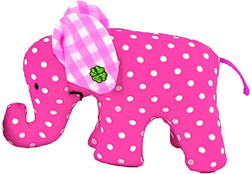 Kathe Kruse Mini Elephant Plush Toy, Pink (Discontinued by Manufacturer)