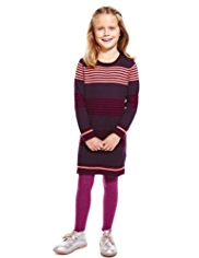 Pure Cotton Striped Knitted Dress