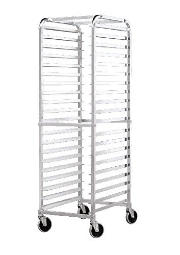Front Load Bun Pan Rack Rounded Top, NSF Certified Bakery Racks, Commercial, Restaurant, Dolly