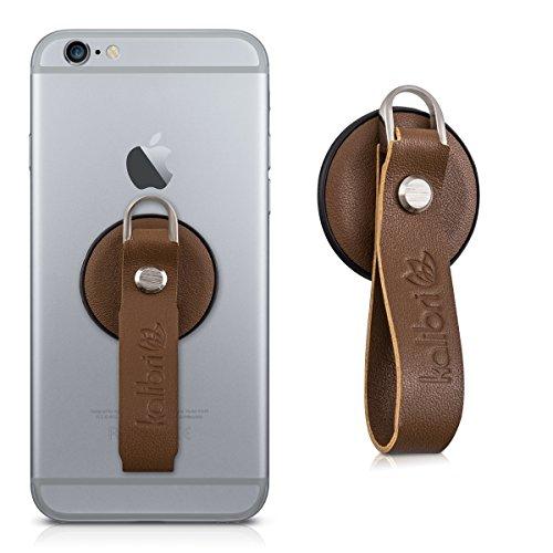 kalibri-Finger-Halterung-fr-Smartphones-in-Braun-Echtleder-Fingerschlaufe-zB-geeignet-fr-iPhone-6-Plus-Samsung-Galaxy-S7-etc