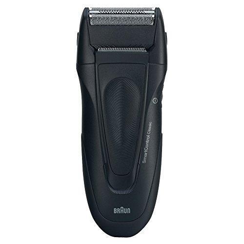 SmartControl Classic Rasierer / elektrischer Rasierapparat (mit Etui, wasserfester Elektrorasierer), schwarz