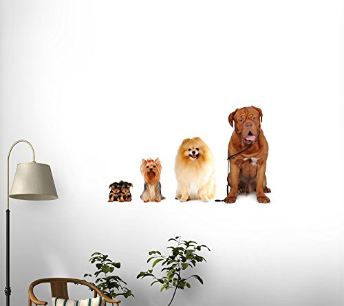Group of Dogs Different Sizes Isolated Peel and Stick Fabric Wall Sticker by Wallmonkeys Wall Decals 1pc pack k795 aluminum pipe out diameter 8mm inner diameter 5mm hollow circular tube for diy model making free shipping russia