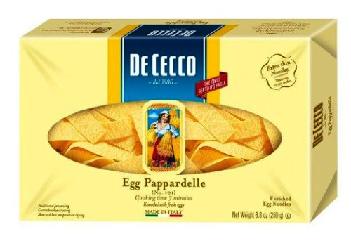 Egg Pappardelle Pasta 8.80 Ounces (Case of 12) (De Cecco Egg Pasta compare prices)