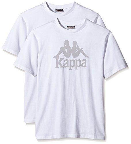 Kappa Deliou X2-Maglietta a maniche corte, da uomo bianco bianco M