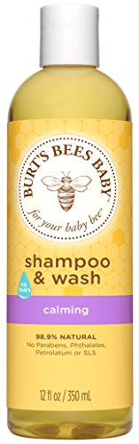 Burt's Bees Baby Bee Shampoo and Wash, Calming, 12 Fluid Ounces (Packaging May Vary)