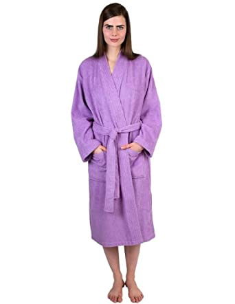 TowelSelections Turkish Cotton Bathrobe Terry Kimono Robe Made in Turkey Small/Medium Lupine