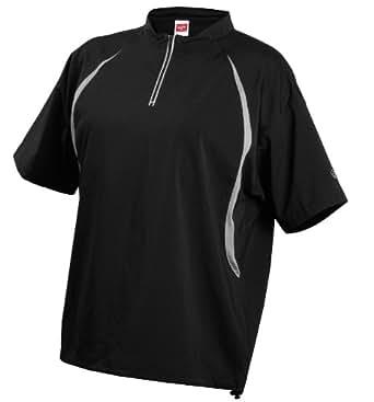 Rawlings Men's Ccj Short Sleeve Cage Jacket(Black, X-Small)