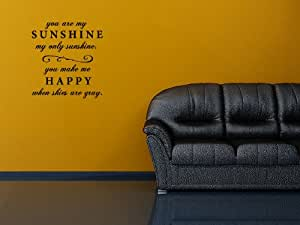 You Are My Sunshine Quote - Vinyl Wall Art Decal Stickers Decor Graphics
