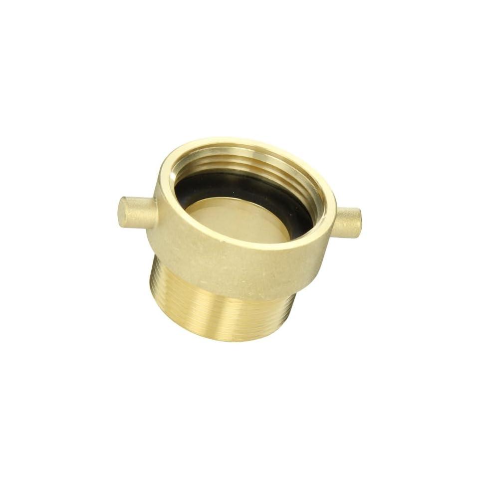 Moon 369 1521561 Brass Fire Hose Adapter, Pin Lug, 1 1/2 NH Female x 1 1/2 NPT Male