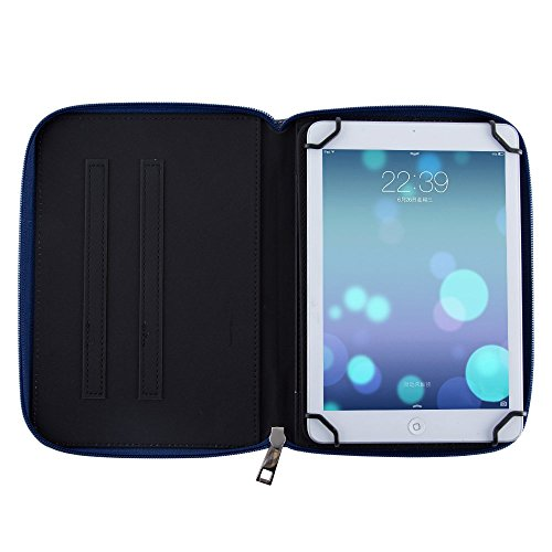 Casezilla Sanei N785 Android Tablet 360 Rotating Universal EVA Hard Shell Folio Case - Electric Butterfly Purple at Electronic-Readers.com