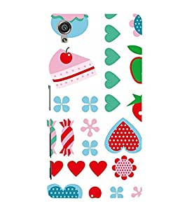 KIDDISH PATTERN IN A WHITE BACK GROUND 3D Hard Polycarbonate Designer Back Case Cover for Sony Xperia X::Sony Xperia X Dual F5122 with dual-SIM card slots