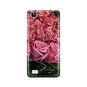 Motivatebox - Pink and Red roses Vivo X5 cover- Matte Polycarbonate 3D Hard case Mobile Cell Phone Protective BACK CASE COVER. Hard Shockproof Scratch-Proof Accessories
