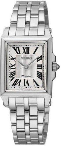 Seiko Premier White Dial Stainless Steel Ladies Watch SXGP11