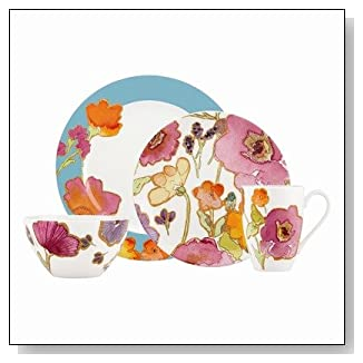 Floral Fusion 4 Pieces Place Setting in Aqua