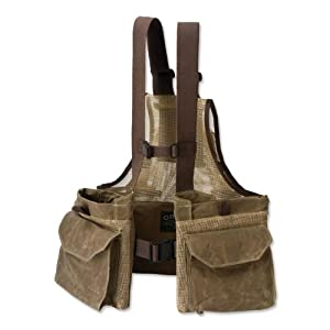 Waxed Cotton Strap Vest / Waxed Cotton, Dark Khaki, Xlarge/Xxlarge