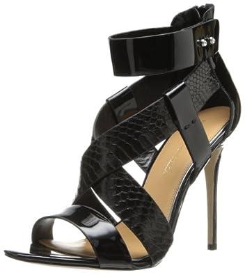 Badgley Mischka Women's Keenan Dress Sandal,Black/Black,5.5 M US