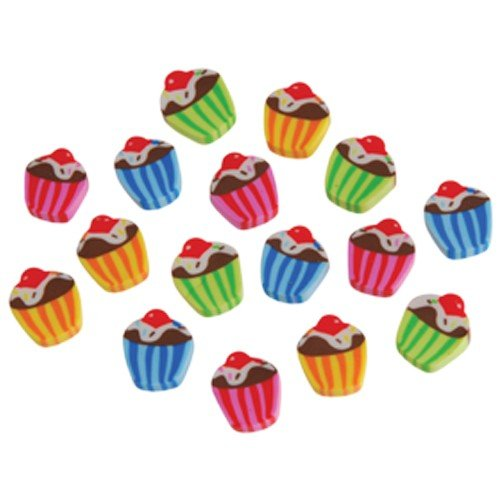 Lot Of 144 Assorted Mini Cupcake Theme Erasers