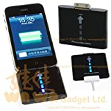 Wa Wa EMERGENCY BACKUP POWER BATTERY CHARGER STATION 1000mAh - BLACK for APPLE iPhone 3G 2G, iPod Touch 2G 2nd Gen, iPod Nano 4G 4th Gen, iPod Classic 120GB - ALL IPOD
