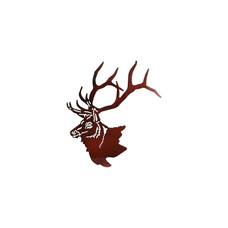 28 Lazart Metal Wall Art Wall Decor   Elk Head