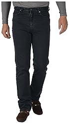 KILLER Men's Regular Fit Jeans (572192 C/F OLVNGHT_34, Black, 34)