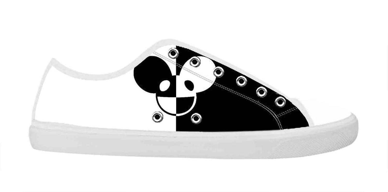 Rock Band Deadmau5 Women's Canvas Shoes Women White Low Top Canvas Shoes