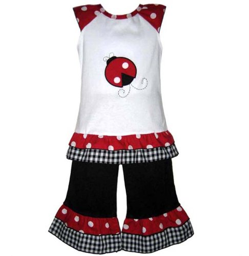 Girls Trendy Ladybug Outfit Boutique Clothing Clothes
