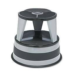 Cramer - Kik-Step Steel Step Stool, 16 dia x 14 1/4h, to 350lb, Slate 1001-82 (DMi EA