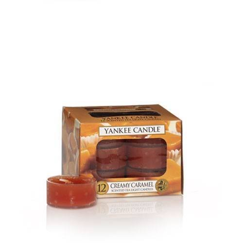 Creamy Caramel - Box of 12 Scented Tea Lights Yankee Candle