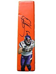 Chad Greenway Autographed Custom Photo Minnesota Vikings Football End Zone Pylon, Proof Photo