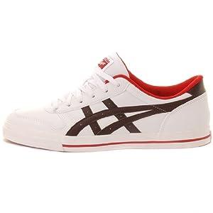 Asics Aaron - Zapatillas de tiempo libre y sportwear para hombre, talla 43.5, color blanco / marrón