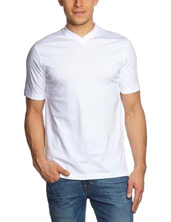 CASAMODA Herren T-Shirt 2 er Pack Comfort Fit 092183/0, Gr. 37/38 (S), Weiß (0 weiß)