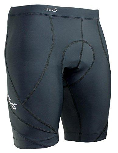 SUB Sports ELITE CYCLE MENS SHORTS - PADDED COMPRESSION SHORTS - BLACK - M Compression Cycle Short