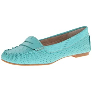 Steve Madden Women's Murphey Penny Loafer,Turquoise Leather,6 M US