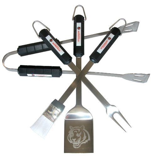 NFL Cincinnati Bengals 4-Piece Barbecue Set