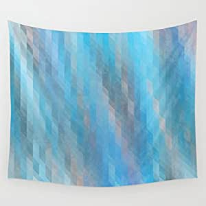 society6 washed out geometric blue grey and pink wall tapestry by kat mun. Black Bedroom Furniture Sets. Home Design Ideas