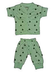 Wise Guys Cotton Unisex Top & Pajama for Baby Kids Clothing Set (0 to 03 Months) CLOTHSET23