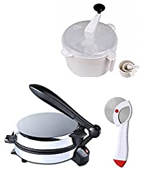 GTC COMBO OF NATIONAL DETACHABLE ROTI MAKER, DOUGH MAKER AND PIZZA CUTTER