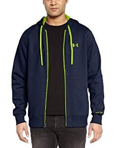 Under Armour CC Storm Transit Sweat-shirt à capuche zippé Homme Heather Jean/High-Vis Yellow FR : S (Taille Fabricant : SM)