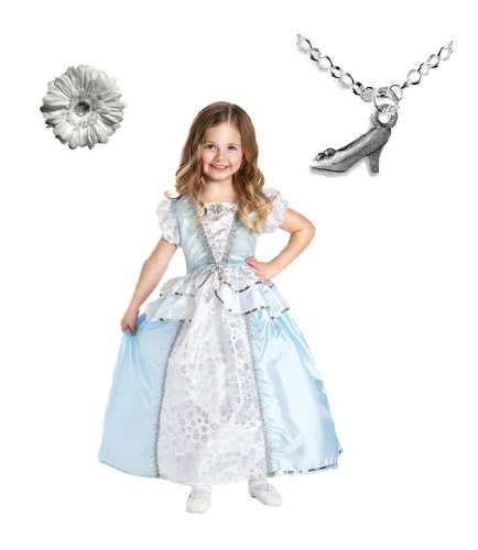 Cinderella Princess Dress with Wondercharms Necklace - LARGE (5-7)