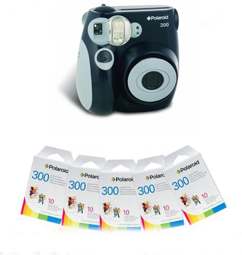 Polaroid 300 Instant Camera - Black and 50 Film