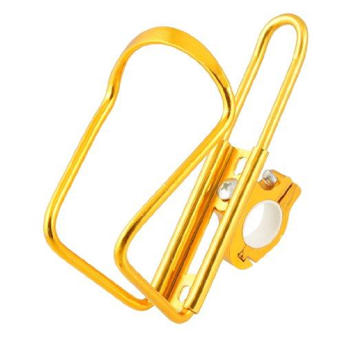 Gold Tone Metal Drink Water Bottle Holder Cage Rack For Bike front-850379