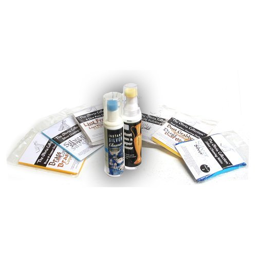TOC Silver, Gold, Brass, Copper Jewellery Polishing, Lint and Dust Cleaning Kit