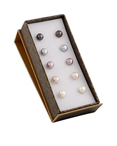 Splendid Set of 5 Pairs of 6-7mm Freshwater Pearl Earrings