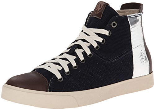 Diesel Men's D-Velows D-Tape Fashion Sneaker, H Indigo/Java, 8 M US