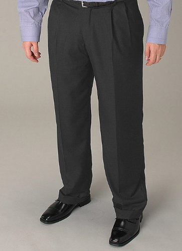 Affazy Charcoal Pleated Slacks