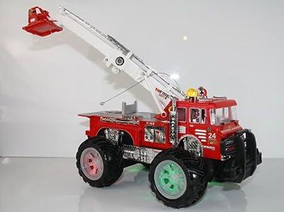 RC Feuerwehrauto Fire Fighter Einsatzlicht Sirene Feuerwehr ferngesteuertes Auto mit echtem Einsatzlicht und Sirene - Hammerbeleuchtung