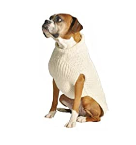 Chilly Dog Tural Cable Dog Sweater, X-Large