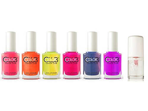 Color-Club-Poptastic-Collection-Nail-Polish-Set-of-6-Etude-House-Play-Nail-Care-Long-Shine-Top-Coat-8ml-027-fl-oz
