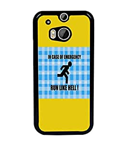 PrintDhaba Quote D-5704 Back Case Cover for HTC ONE M8s (Multi-Coloured)